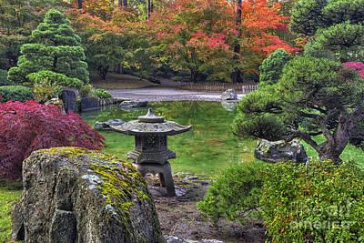 Nishinomiya Japanese Garden -japanese Lantern Art Print by Mark Kiver
