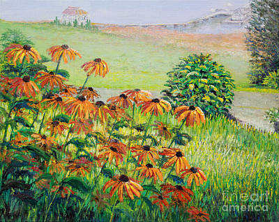 Painting -  North Carolina Black Eyed Susans  by Lou Ann Bagnall