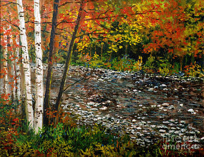 Painting -  North Carolina Stream by Lou Ann Bagnall