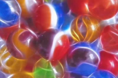 Marble Eyes Mixed Media -  Nostalic Marbles - Fractal by Steve Ohlsen