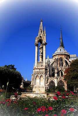 Photograph -  Notre Dame With Madonna And Child by Jacqueline M Lewis