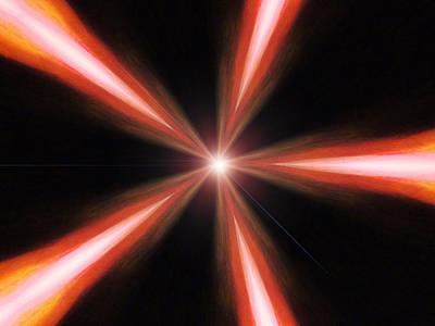 Red Photograph -  Novae Prime by Lisa Brandel
