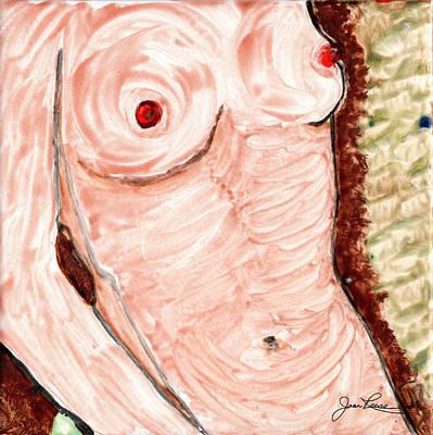 Door Locks And Handles -  Nude Female Torso by Joan Reese