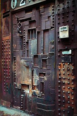 Photograph -  Nyc Designer's Dungeon Door by Xueling Zou