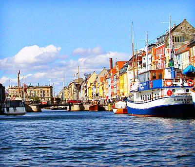 Photograph -  Nyhavn Copenhagen by Richard Engelbrecht