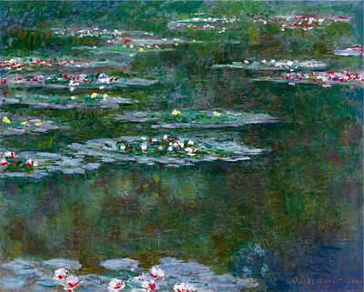 Bassin Painting -  Nympheas by Claude Monet
