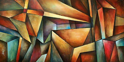 Edge Painting - ' Obvious Space ' by Michael Lang