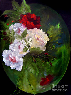 Rose Of Sharon Painting -  Of Rhapsodies And Roses by Sharon Burger