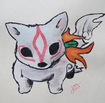 Videogames Painting -  Okami by Jackie Sabillon