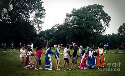 R. Mclellan Photograph -  Oklahoma Choctaw Youth Dancing by R McLellan
