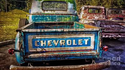 Photograph -  Old Chevy Trucks by Peggy Franz