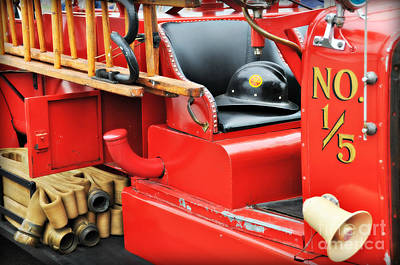 Photograph -   Old Faithful Fire Truck by Mindy Bench