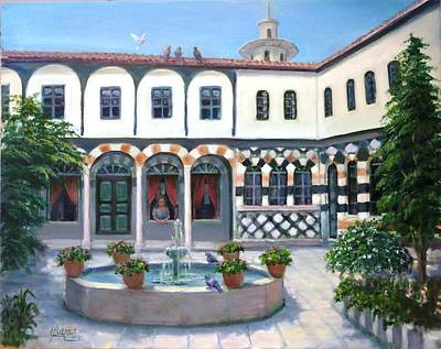 Art Print featuring the painting  Old House In Damascus # 2 by Laila Awad Jamaleldin