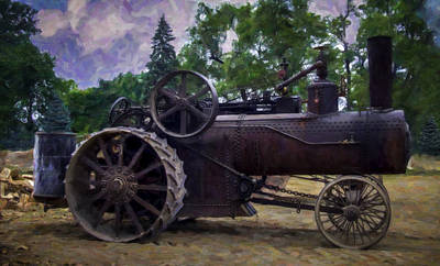 Keck Photograph - Old Iron Digital Painting by F Leblanc