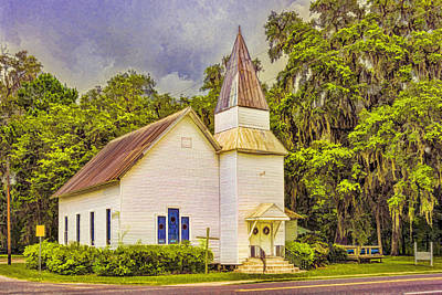 Old Rural Church Art Print