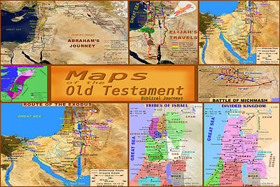 Photograph -  Old Testament Maps by Bob Pardue