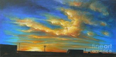 Painting -  On Route 66 To Amarillo by Sgn