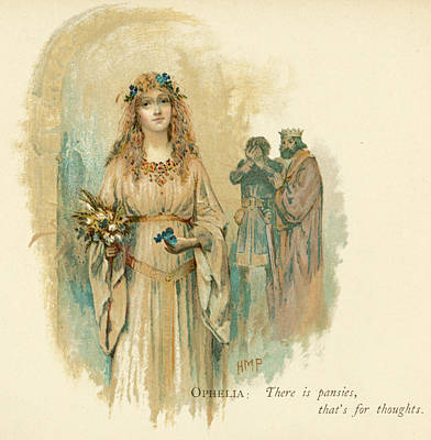 Cuckoo Drawing -  Ophelia Loses Her Wits by Mary Evans Picture Library