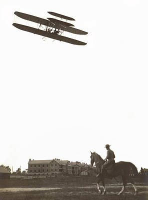 Fort Meyers Photograph -  Orville Wright Soars Over Fort Meyer  C. 1909 by Daniel Hagerman