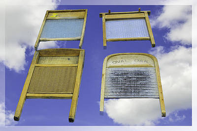 Wind Photograph -  Out The Window Laundry Blues  by LeeAnn McLaneGoetz McLaneGoetzStudioLLCcom