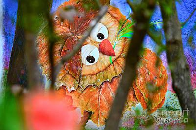 Owl Leaf Forest Art Print by Vin Kitayama