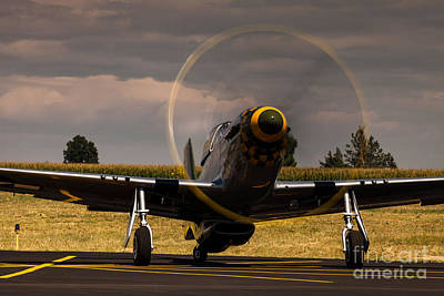 P-51 Ready For Take Off Art Print by Steven Reed