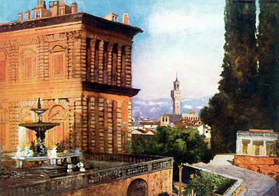 Palazzo Pitti  And Boboli Gardens Art Print by Mary Evans Picture Library