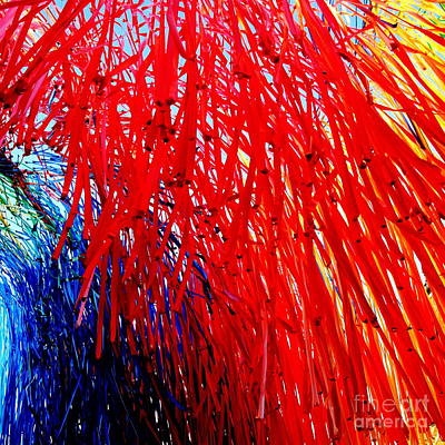 Photograph -  Paper Fireworks In Gdansk by Jacqueline M Lewis