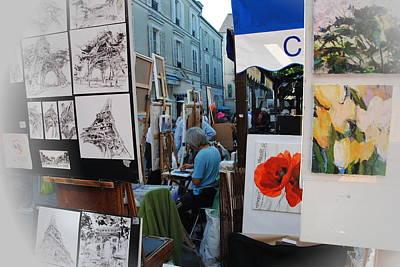 Photograph -  Paris Montmartre Place Du Tetre by Jacqueline M Lewis