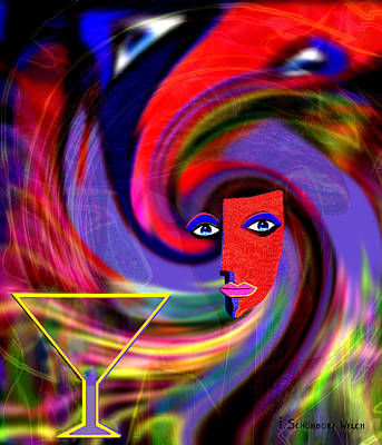 Digital Art -  Party  - 690 by Irmgard Schoendorf Welch