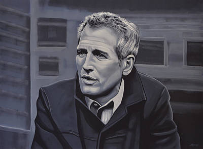 Paul Newman Art Print by Paul Meijering