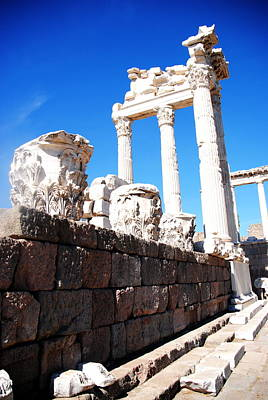 Photograph -  Pergamum - Temple Of Trajan by Jacqueline M Lewis