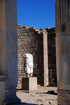Photograph -  Pergamum Treasure - Statue Of Trajan by Jacqueline M Lewis