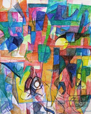 Creativity Drawing -  Admitting The Truth 3 by David Baruch Wolk