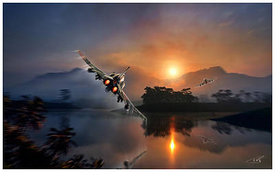 Mcdonnell Douglas F-4 Phantom Ii Digital Art -  Phantoms Bugging Out by Peter Van Stigt