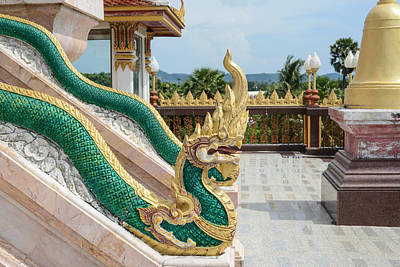 Photograph -  Phuket Thailand Chalong Wat Dragons by Brandon Bourdages
