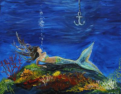 Of A Siren Painting -  Pirates True Love Awaits by Leslie Allen