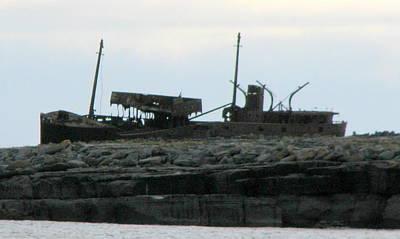 Photograph -  Pleshy Ship Wreck by Joseph Doyle