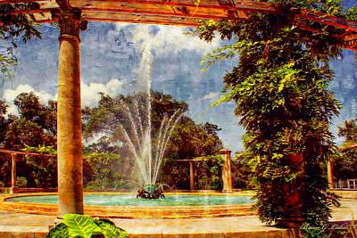 Brian Lukas Photograph -  Pop's Fountain -  New Orleans City Park by Brian Lukas