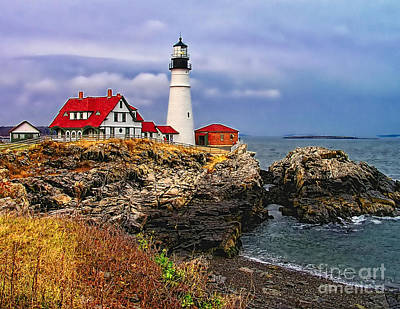 Photograph -  Portland Head Lighthouse by Nick Zelinsky