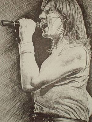 Def Leppard Drawing -  Portrait Of Joe Elliott by Chris Shepherd