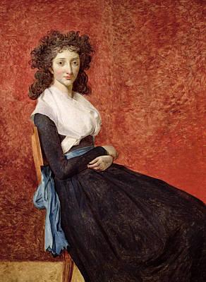 Portrait Of Madame Charles-louis Trudaine Art Print by Jacques Louis David