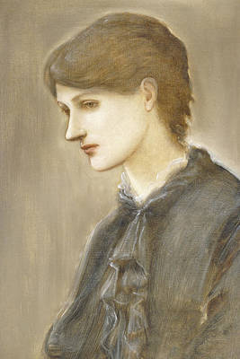 Concept Painting -  Portrait Of Mrs William J Stillman Nee Marie Spartali by Sir Edward Coley Burne Jones