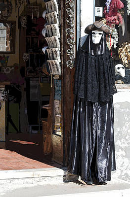 Volto Photograph -  Poster Look Shop With Carnevale Di Venezia Masks by Sally Rockefeller