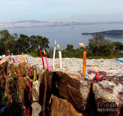 Photograph -  Prayer Candles by Lou Ann Bagnall