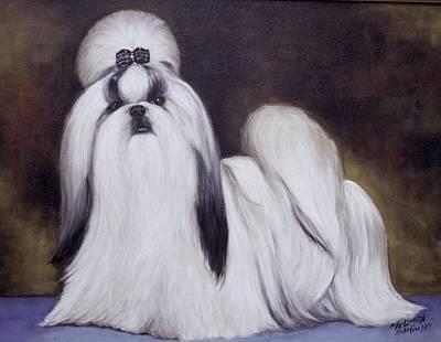 Pretty Showdog Shih Tzu Original by Melinda Saminski