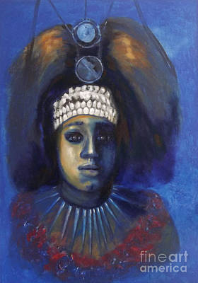 Painting -  Princess From Hawaii by Donna Chaasadah