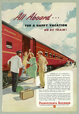 Pennsylvania Drawing -  Promoting The Pennsylvania  Railroad by Mary Evans Picture Library