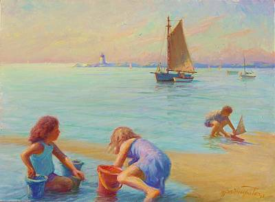Cape Cod Painting -  Provincetown Harbor Morning by Ernest Principato