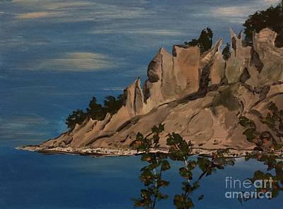 Painting -  Ptg. Chimney Bluffs by Judy Via-Wolff